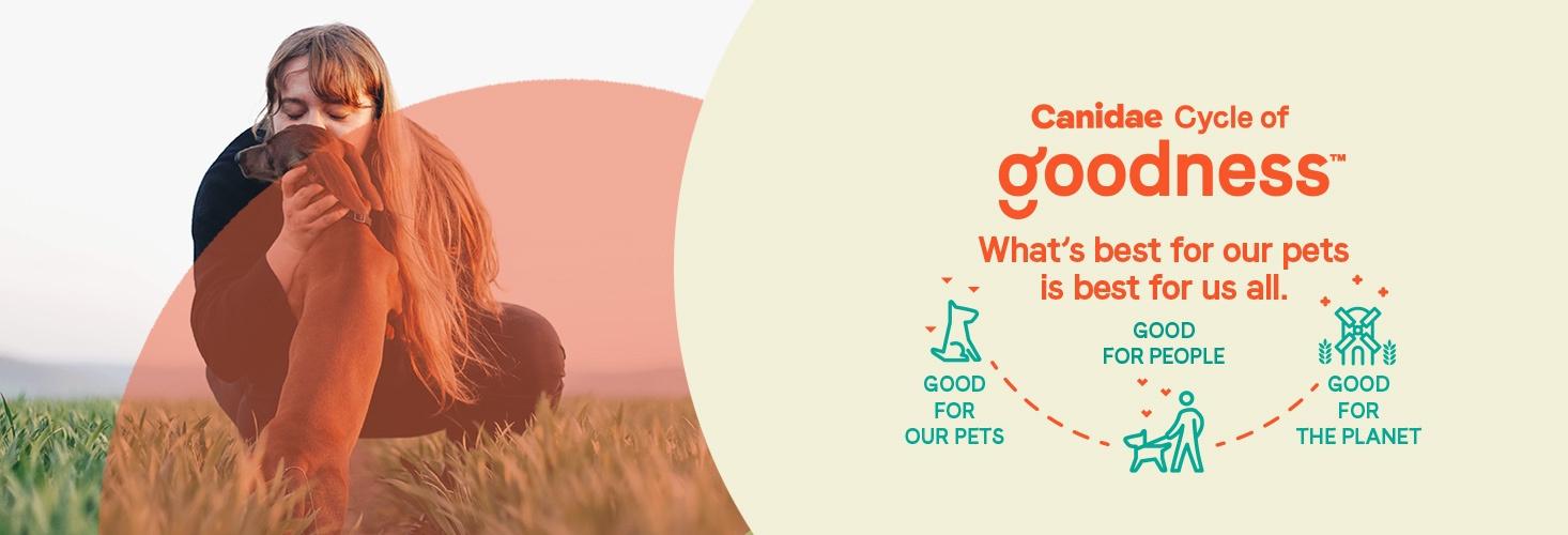 Canidae cycle of goodness. what's best for our pets is best for us all. Good for our pets, good for people, good for this planet